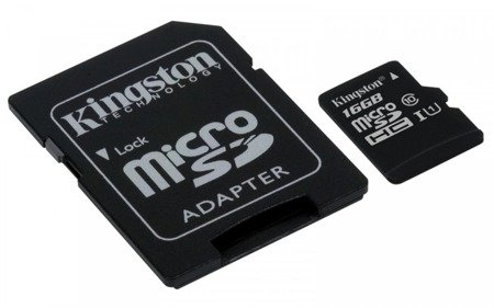 Kingston karta pamięci 16GB Micro SD adapter CL10