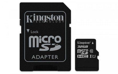 Kingston karta pamięci 32GB Micro SD adapter CL10