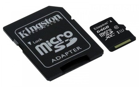 Kingston karta pamięci 64GB Micro SD adapter CL10